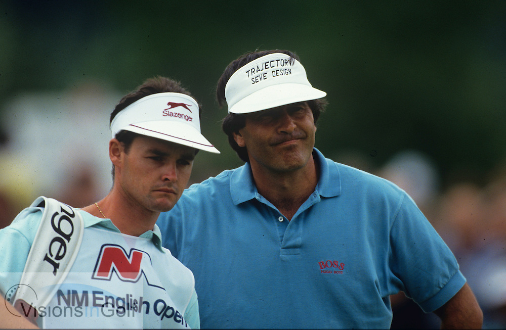 Seve Ballesteros  Billy Foster 1991<br /> <br /> Picture Credit:  Mark Newcombe / www.visionsingolf.com