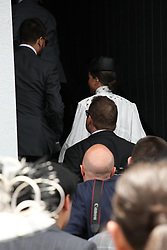 AU_1391508 - Melbourne, AUSTRALIA  -  Scott Disick posed for photos on the Ultra media wall, but Sofia Richie just walked straight in when they arrived in the celebrity and VIP Birdcage enclosure at AAMI Victoria Derby Day.<br />
