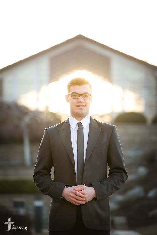 Portrait of Jacob Benson, seminarian at Concordia Theological Seminary, Fort Wayne, Ind., on Wednesday, April 1, 2015. LCMS Communications/Erik M. Lunsford
