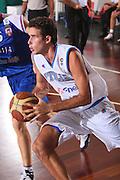 DESCRIZIONE : Cagliari Qualificazione Eurobasket 2009 Serbia Italia <br /> GIOCATORE : Luigi Datome <br /> SQUADRA : Nazionale Italia Uomini <br /> EVENTO : Raduno Collegiale Nazionale Maschile <br /> GARA : Serbia Italia Serbia Italy <br /> DATA : 20/08/2008 <br /> CATEGORIA : Penetrazione <br /> SPORT : Pallacanestro <br /> AUTORE : Agenzia Ciamillo-Castoria/S.Silvestri <br /> Galleria : Fip Nazionali 2008 <br /> Fotonotizia : Cagliari Qualificazione Eurobasket 2009 Serbia Italia <br /> Predefinita :