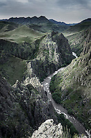Imnaha River carving its way through Imnhaha Canyon, Hells Canyon Recreation Area Oregon