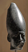 Head of a statue of Amenemhet 111 with the crown of Upper Egypt Middle Kingdom, 12th Dynasty around 1830 BC granite