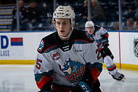 KELOWNA, BC - JANUARY 11: Tyson Feist #25 of the Kelowna Rockets warms up on the ice against the Kamloops Blazersat Prospera Place on January 11, 2020 in Kelowna, Canada. (Photo by Marissa Baecker/Shoot the Breeze)