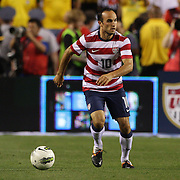 Landon Donovan, USA, in action during the USA V Brazil International friendly soccer match at FedEx Field, Washington DC, USA. 30th May 2012. Photo Tim Clayton