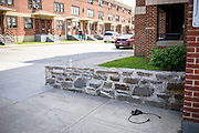 Baltimore, Maryland - April 21, 2015: The spot in the West Baltimore neighborhood where Freddie Gray was detained by police, and suffered lethal injuries. <br /> <br /> CREDIT: Matt Roth for The New York Times<br /> Assignment ID: 30173645A