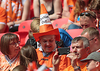 Football - 2017 Sky Bet [EFL] League Two Play-Off Final - Blackpool vs. Exeter City<br /> <br />  Protests continue for the Oyston family to leave Blackpool at Wembley.<br /> <br /> COLORSPORT/DANIEL BEARHAM