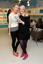 Left to right, LAINEY SHERIDAN-YOUNG and CAMILLA MORTON at a party to celebrate the publication of Camilla Morton's book 'A Year in High Heals' held at Bliss Spa, 60 Slaone Avenue, London on 5th February 2009.