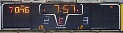 24.03.2019, Keine Sorgen Eisarena, Linz, AUT, EBEL, EHC Liwest Black Wings Linz vs Moser Medical Graz 99ers, Viertelfinale, 6. Spiel, im Bild Anzeigetafel // during the Erste Bank Icehockey 6th quarterfinal match between EHC Liwest Black Wings Linz and Moser Medical Graz 99ers at the Keine Sorgen Eisarena in Linz, Austria on 2019/03/24. EXPA Pictures © 2019, PhotoCredit: EXPA/ Reinhard Eisenbauer