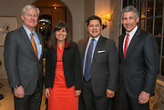 Douglas Foshee, Aleida Rios, Houston ISD Superintendent Richard Carranza and Joseph Greenberg pose for a photograph during a State of the Schools VIP reception at the home of Douglas and Sarah Foshee, January 17, 2017.