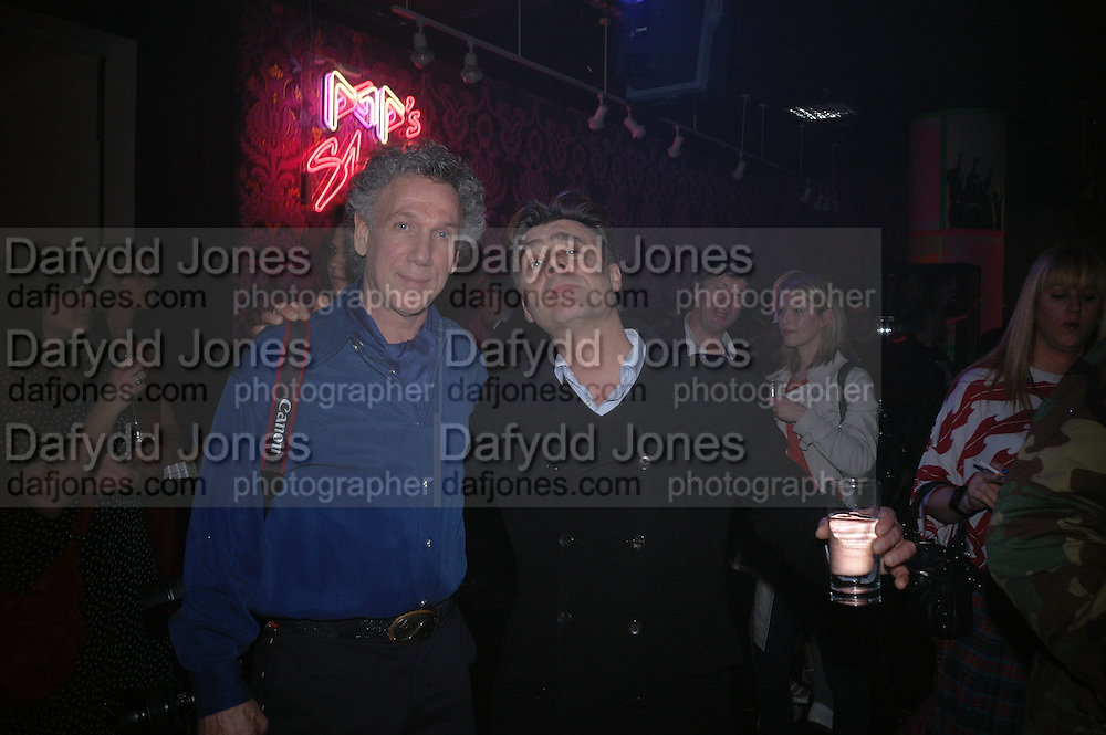 Bob Gruen and Glen Matlock, Future Punk Launch party at Selfridges, Oxford St. : 9th March. ONE TIME USE ONLY - DO NOT ARCHIVE  © Copyright Photograph by Dafydd Jones 66 Stockwell Park Rd. London SW9 0DA Tel 020 7733 0108 www.dafjones.com