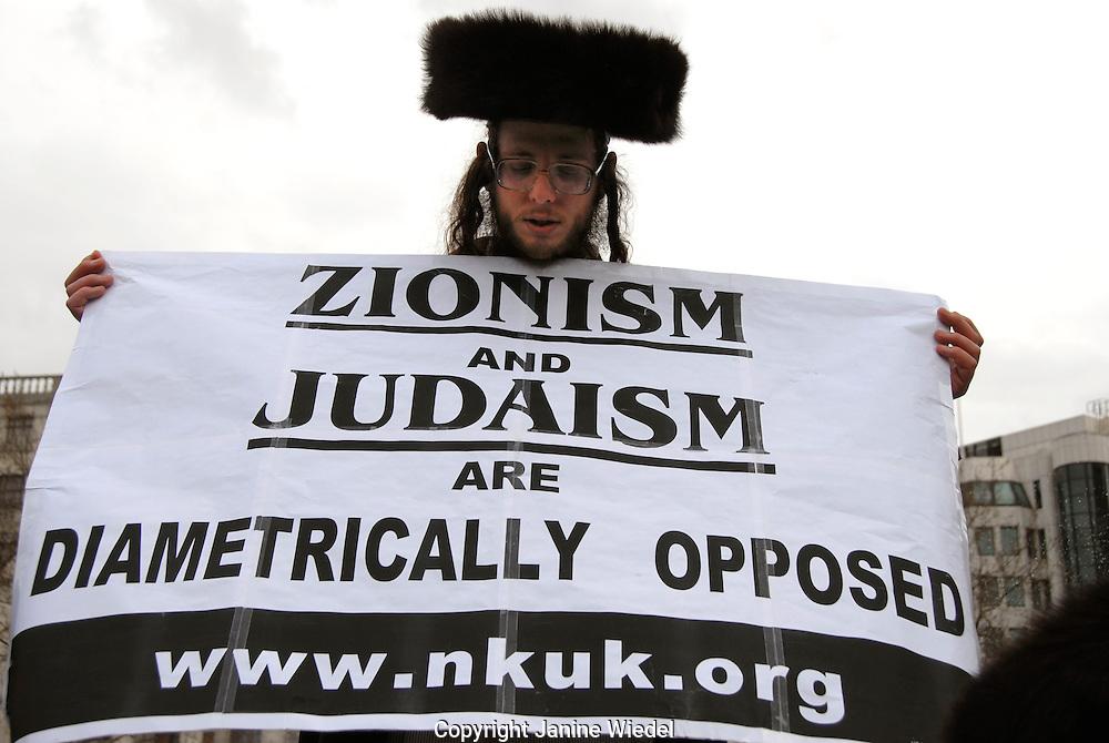 Orthodox Jews Members of Neturei Karta International Jews Against Zionism at Stop the War demo