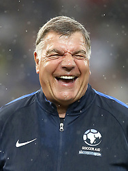 England's Sam Allardyce during the UNICEF Soccer Aid match at Old Trafford, Manchester.