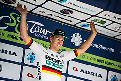 Pascal Ackermann (GER) of Bora Hansgrohe celebrates during 1st Stage of 26th Tour of Slovenia 2019 cycling race between Ljubljana and Rogaska Slatina (171 km), on June 19, 2019 in Slovenia. Photo by Peter Podobnik/ Sportida