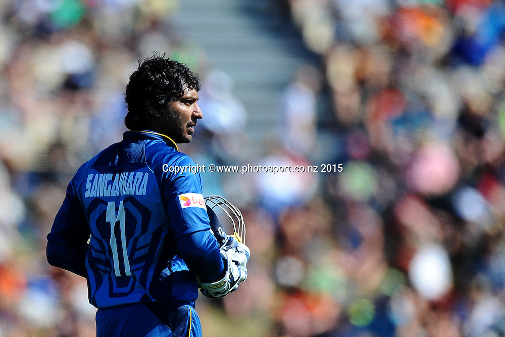 Sri Lanka player Kuma Sangakkara during Match 4 of the ANZ One Day International Cricket Series between New Zealand Black Caps and Sri Lanka at Saxton Oval, Nelson, New Zealand. Tuesday 20 January 2015. Copyright Photo: Chris Symes/www.Photosport.co.nz