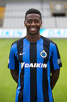 Club's Abdoulay Diaby poses for the photographer during the 2015-2016 season photo shoot of Belgian first league soccer team Club Brugge, Friday 17 July 2015 in Brugge