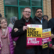 Waltham Forest Stand up to Racism against hate and the outrageous 'Punish a Muslim Day' letter recently sent to homes across the country is yet another example of anti-Muslim hate crime which has doubled over the last year on the 3rd March 2018 at Lea Bridge Road Mosque, London, UK.