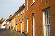 Seventeenth and eighteenth century attractive cottages, Nayland village, Essex, England