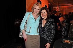 Left to right, JULIE MEYER and JOANNA SHIELDS vice president of Facebook Europe at the 38th Veuve Clicquot Business Woman Award held at Claridge's, Brook Street, London W1 on 28th March 2011.