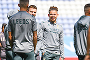 Leeds United midfielder Kalvin Phillips (23) arrives at the ground during the EFL Sky Bet Championship match between Wigan Athletic and Leeds United at the DW Stadium, Wigan, England on 17 August 2019.