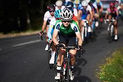 Ruth Winder (USA) leads up the final climb at Tour Cycliste Féminin International de l'Ardèche 2018 - Stage 5, a 138.4km road race from Grandrieu to Mont Lozère, France on September 16, 2018. Photo by Sean Robinson/velofocus.com