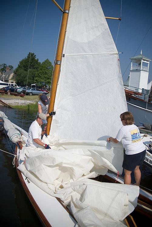Chesapeake Bay Maritime Museum Folk Festival Log Canoe Races, Saturday July 26, 2008.