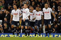 Tottenham's Gylfi Sigurosson celebrates scoring a goal - Photo mandatory by-line: Mitchell Gunn/JMP - Tel: Mobile: 07966 386802 30/10/2013 - SPORT - FOOTBALL - White Hart Lane - London - Tottenham Hotspur v Hull City - Capital One Cup - Forth Round