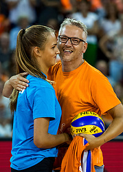 11-08-2018 NED: Rabobank Super Series Netherlands - Turkey, Eindhoven<br /> Netherlands in the final against Russia. The Dutch win the semi final in straight sets 3-0 / Entertainment