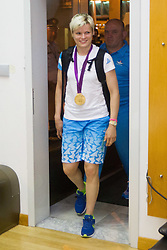 Urska Zolnir during reception of Slovenian Olympic team, on August 5, 2012 in Airport Joze Pucnik, Brnik, Slovenia. (Photo by Vid Ponikvar / Sportida.com)