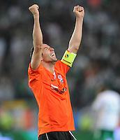 FUSSBALL     UEFA CUP  FINALE  SAISON 2008/2009 Shakhtar Donetsk - SV Werder Bremen 20.05.2009 Darijo Srna (Shakhtar) jubelt nach dem Schlusspfiff