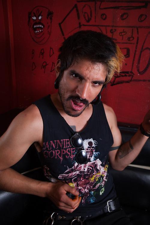 Tony Tapatio (Antonio Cervantes), 2013 U.S. Air Guitar Qualifier Judge.