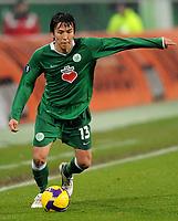 Fotball<br /> Tyskland<br /> Foto: Witters/Digitalsport<br /> NORWAY ONLY<br /> <br /> 26.02.2009<br /> <br /> Makoto Hasebe<br /> Fussball VfL Wolfsburg<br /> UEFA-Cup VfL Wolfsburg - Paris St. Germain