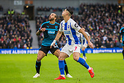 Tyrone Mears (West Brom) & Beram Kayal (Brighton) during the FA Cup fourth round match between Brighton and Hove Albion and West Bromwich Albion at the American Express Community Stadium, Brighton and Hove, England on 26 January 2019.