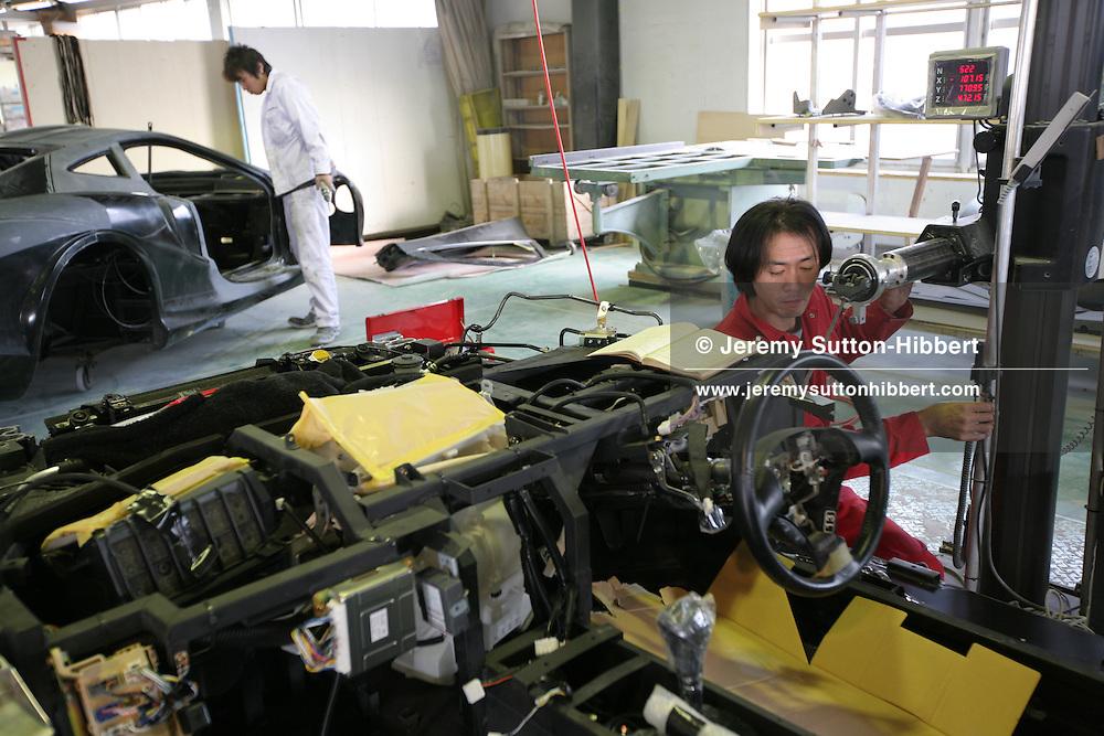 'Orochi' car on the production line at the Mitsuoka car factory, near Toyama, Japan, Wednesday, November 14th, 2007.