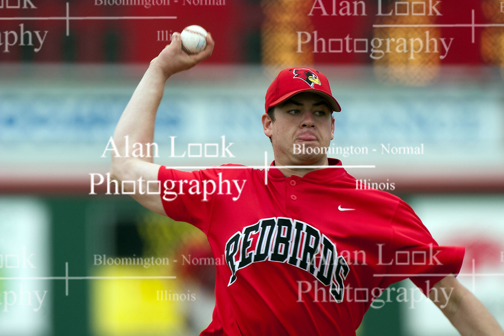 15 April 2006:  Illinois St pitcher Ian Berger. Bradley University Braves are defeated in game one of a double header against the Illinois State University Redbird at Redbird Field in Normal IL.
