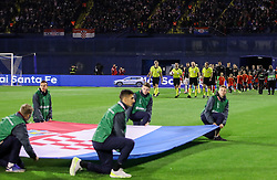 Referees and players coming to pitch during the UEFA Nations League football match between Croatia and Spain, on November 15, 2018, at the Maksimir Stadium in Zagreb, Croatia. Photo by Morgan Kristan / Sportida