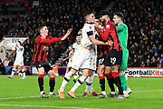 Lloyd Jones (28) of Luton Town and Philip Billing (29) of AFC Bournemouth clash during the The FA Cup match between Bournemouth and Luton Town at the Vitality Stadium, Bournemouth, England on 4 January 2020.