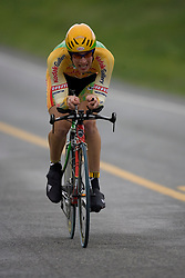 Skyler Bishop (KOD) during stage 1 of the Tour of Virginia.  The Tour of Virginia began with a 4.7 mile individual time trial near Natural Bridge, VA on April 24, 2007. Formerly known as the Tour of Shenandoah, the ToV has gained National Race Calendar (NRC) status for the first time in its five year history.