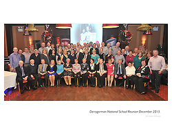 Former pupils from Derrygorman National School, Westport attending the reunion that took place at the Mill Times Hotel over the Christmas.<br /> Pic Conor McKeown