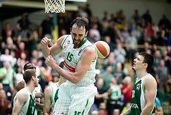 Mirza Begic of Petrol Olimpija reacts during basketball match between KK Krka and KK Petrol Olimpija in 22nd Round of ABA League 2018/19, on March 17, 2019, in Arena Leon Stukelj, Novo mesto, Slovenia. Photo by Vid Ponikvar / Sportida