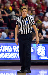 March 20, 2010; Stanford, CA, USA; NCAA referee Wanda Szeremeta during the second half of the game between the Iowa Hawkeyes and the Rutgers Scarlet Knights in the first round of the 2010 NCAA womens basketball tournament at Maples Pavilion.  Iowa defeated Rutgers 70-63.