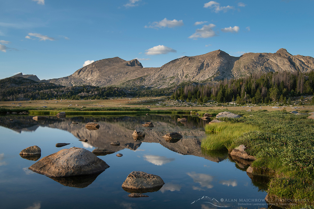 Unnamed lake along the Fremont Trail. Beridger Wilderness, Wind River River Range Wyoming