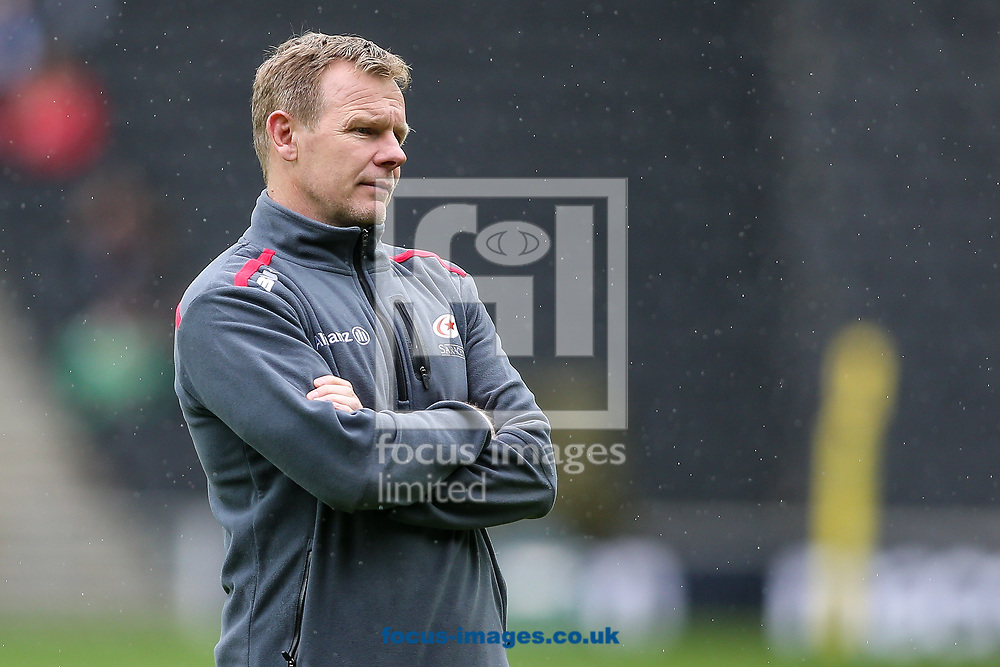 Saracens director of rugby Mark McCall during the Aviva Premiership match at stadium:mk, Milton Keynes<br /> Picture by Andy Kearns/Focus Images Ltd 0781 864 4264<br /> 16/04/2017