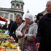 A market at Brussels' Molenbeek neighbourhood, a hotbed of Islamic radicalism.
