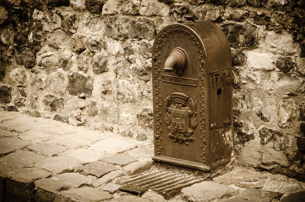 Water fountain, Honfleur, Normandy, France