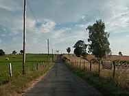 road and landscape of aubrac, france  /  route dans l aubrac, France