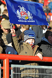 A young spectator at the Greene King IPA Championship match between Bristol Rugby and Yorkshire Carnegie at Ashton Gate on January 18, 2015 in Bristol, England - Photo mandatory by-line: Paul Knight/JMP - Mobile: 07966 386802 - 18/01/2015 - SPORT - Rugby - Bristol - Ashton Gate Stadium - Bristol Rugby v Yorkshire Carnegie - Greene King IPA Championship