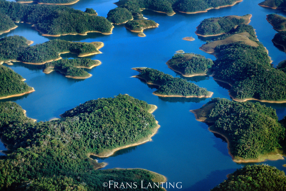 Water reservoirs near Rio de Janeiro (aerial), Brazil