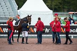 Caroline Schnarre, (GER), Del Rush - Individual Test Grade IV Para Dressage - Alltech FEI World Equestrian Games™ 2014 - Normandy, France.<br /> © Hippo Foto Team - Jon Stroud <br /> 25/06/14