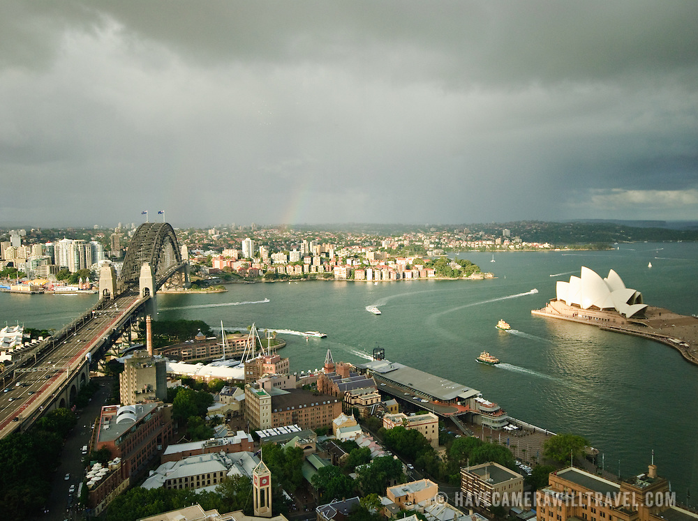 Sydney Harbour from elevated view