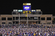 Kansas State fans storm the field after the Wildcats upset the 4th ranked Longhorns 45-42 at Bill Snyder Family Stadium in Manhattan, Kansas, November 11, 2006.<br />